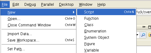 how to run a script in matlab
