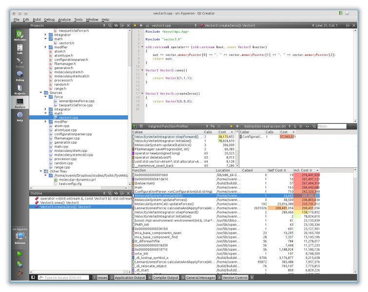 Qt's Valgrind visualization is very neat to see what parts of your code that are spending the most time.