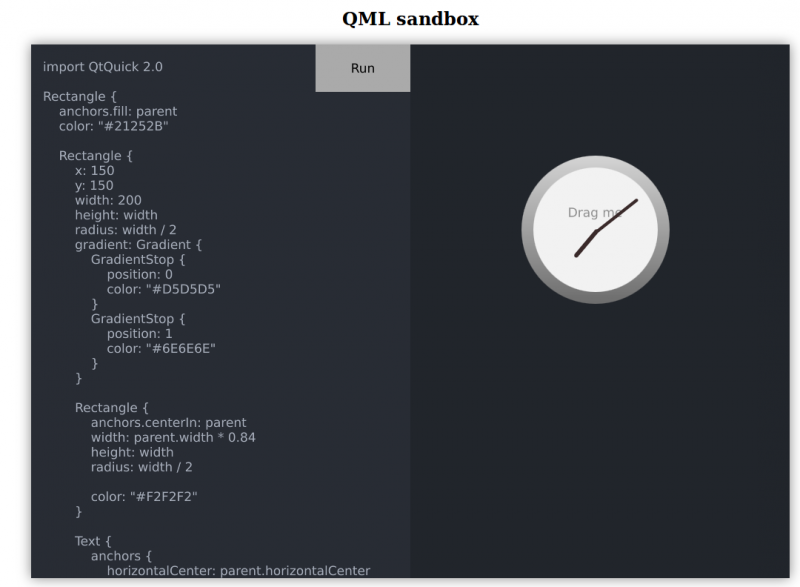 QML sandbox running in Firefox